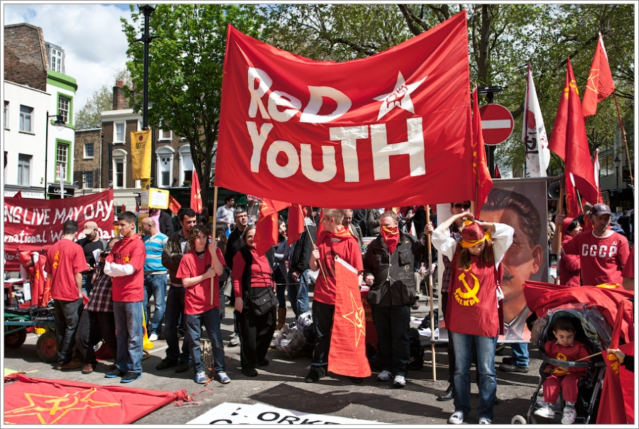 Red Youth Marching