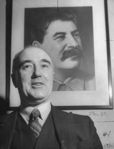 Harry Pollitt leader of the CPGB