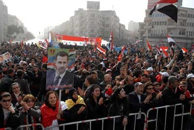 Support for Assad in Syria