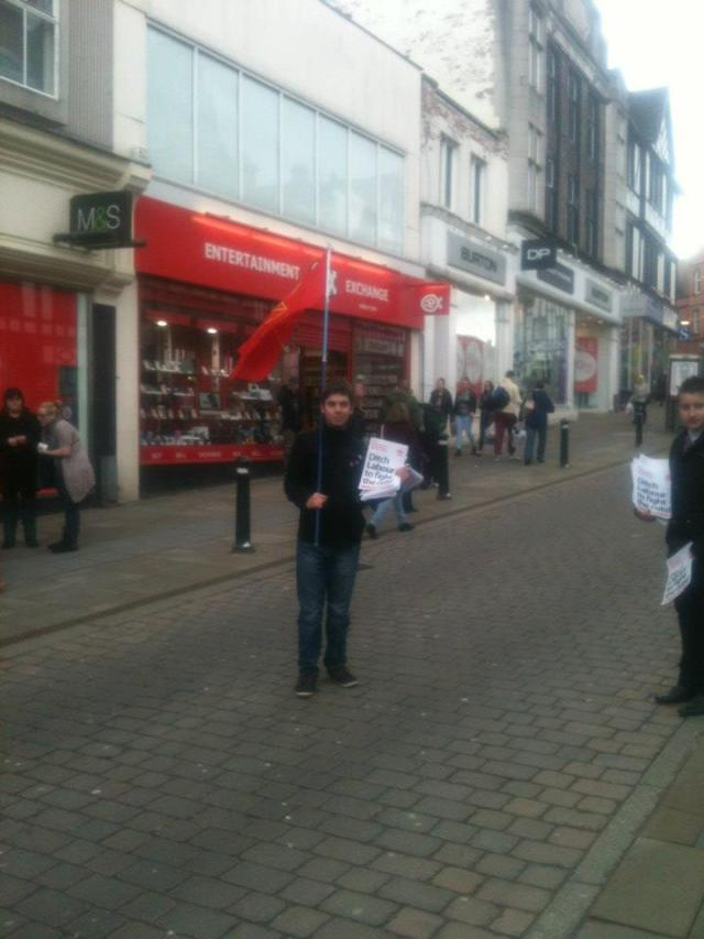 Comrades out in Wigan