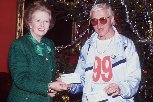Thatcher and Tory mate Jimmy Saville