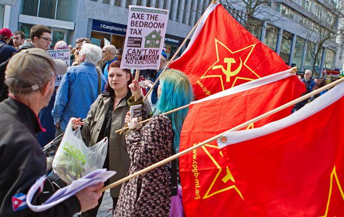 Demonstrators in Birmingham in April