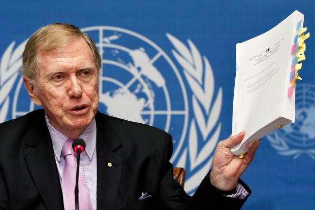 Michael Kirby presenting Report on Human Rights in the DPRK