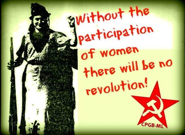 Without the participation of women there will be no revolution!