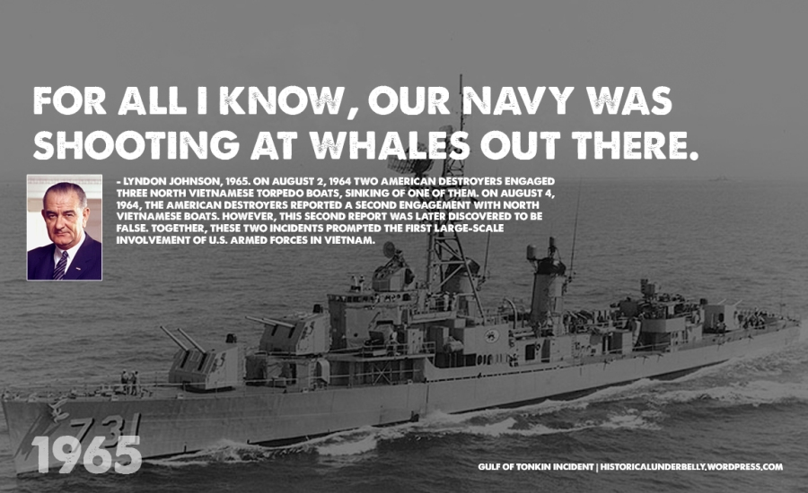Gulf of Tonkin Incident fabricated to 'justify' War against Vietnam