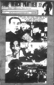 Black Panther newspaper Kim il Sung