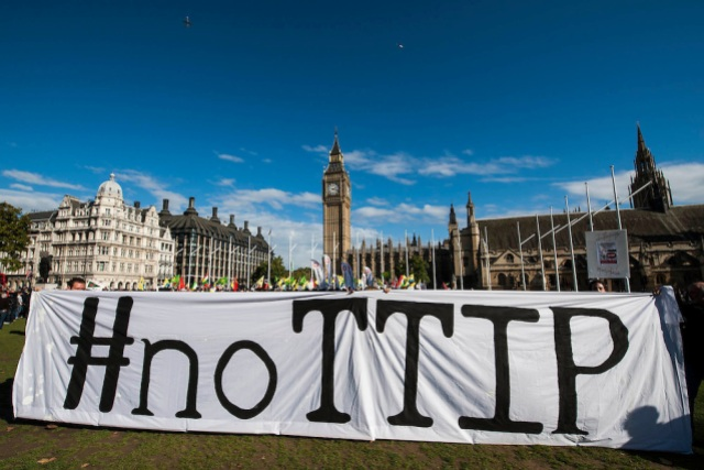 No TTIP European Day of Action, London, UK 11 Oct 2014.