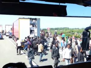 Migrants in Truck