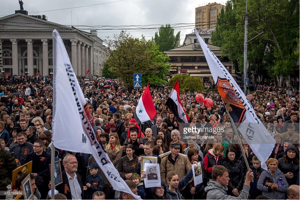 corwd with syria flags - May 9 2015 Donetsk 70 VE Day copy.jpg