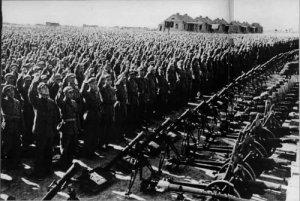 Chinese People's Volunteer Army preparing to assist socialist Korea
