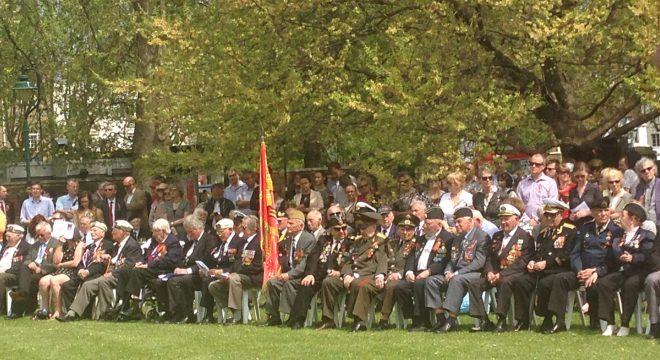Veterans at the Soviet Memorial