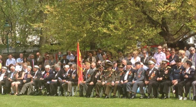 Veterans at the Soviet Memorial