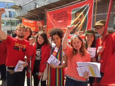Members of Red Youth at International Workers' Day 2016 in London