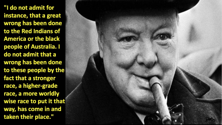 churchill racist copy