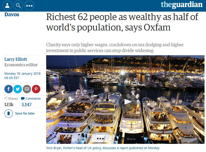 Richest 62 As Wealthy As