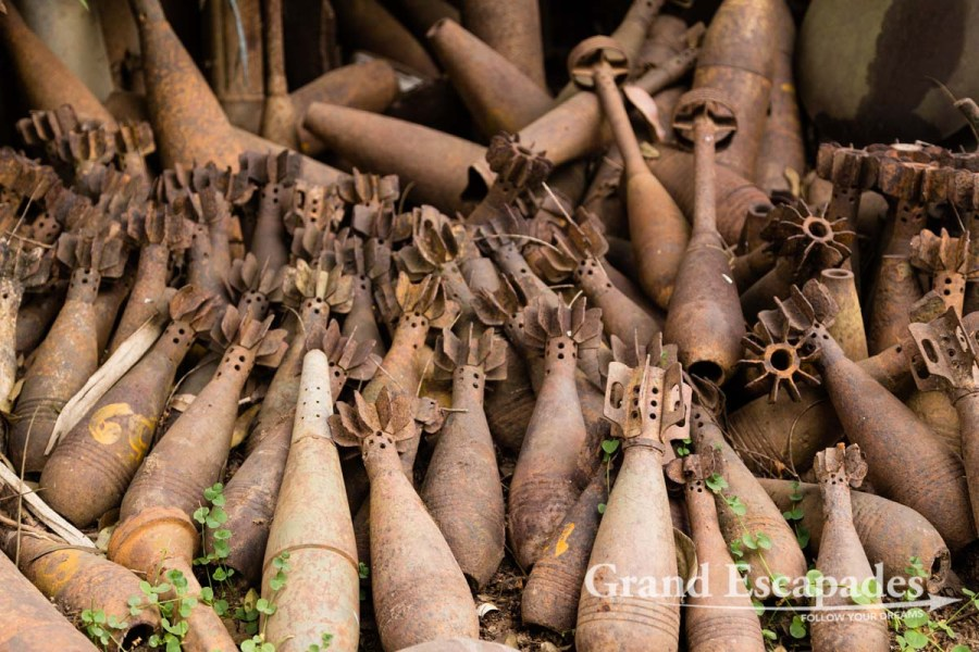 UXOs or Unexploded Ordnances, Phonsavanh, Laos
