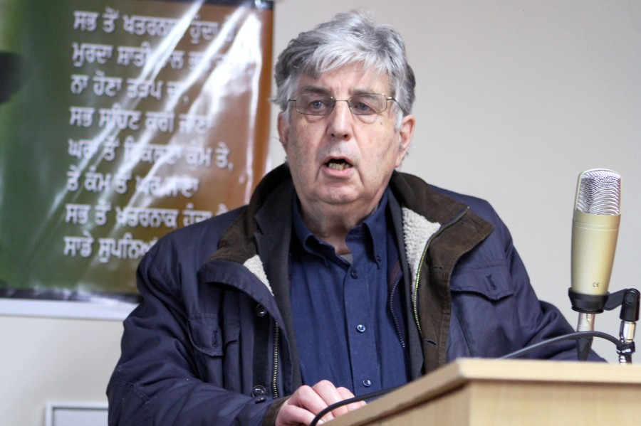 Pictured: Cde. John Tyrrell Commemoration of comrade Fidel Castro's life, Shaheed Udham Singh Welfare Centre; Birmingham