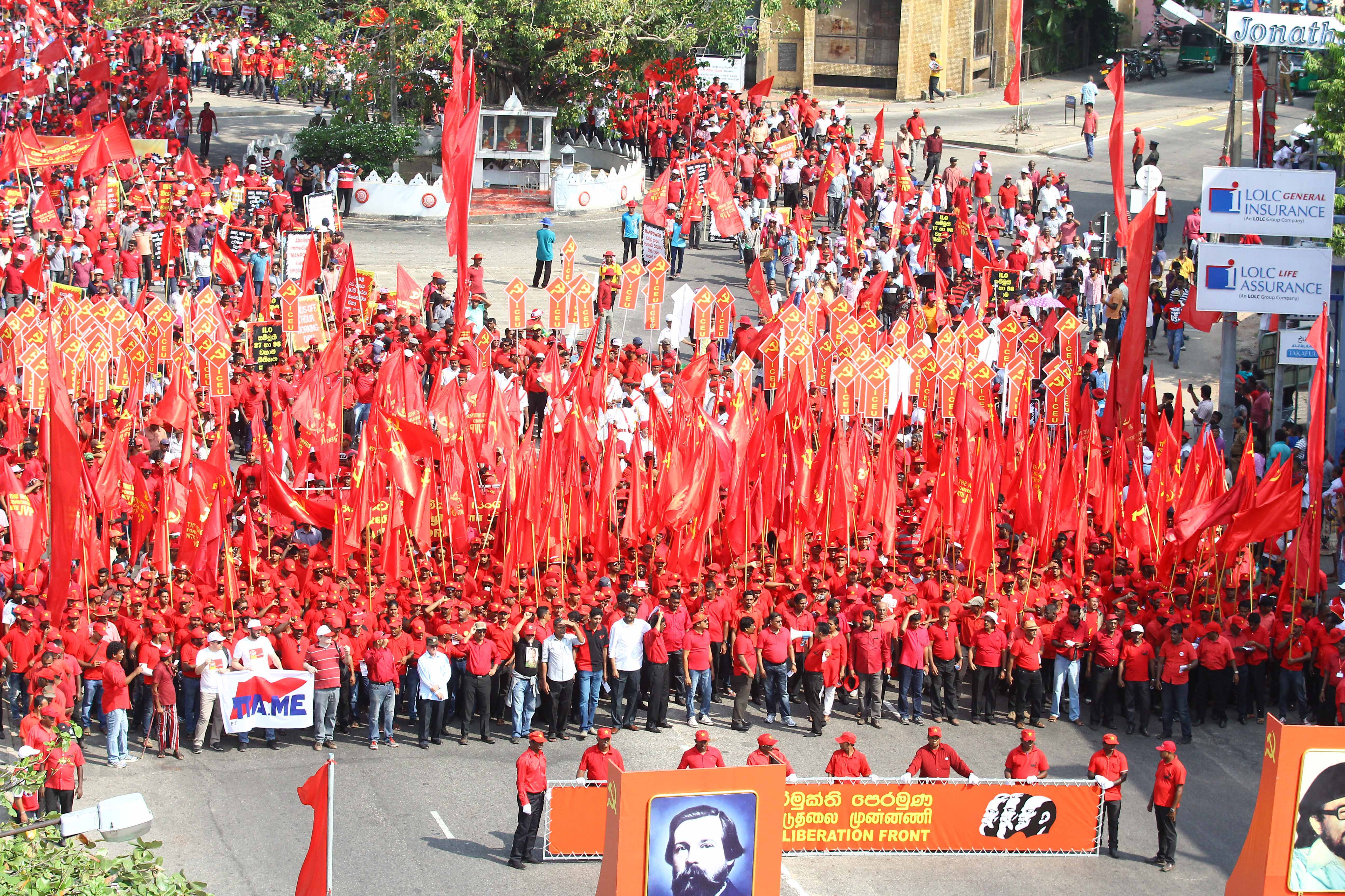 Cpgb Ml Address May 1st Demonstrations Held By The Jvp In Sri Lanka